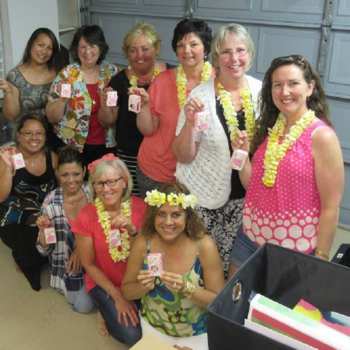 Hawaii at Cindy's  home stamping Make and takes