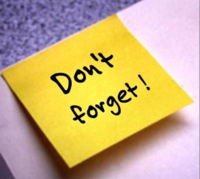 Dont forget post note
