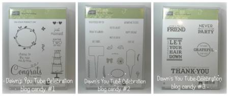 Blog Candy 1 2 3 You tube celebration