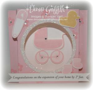 Baby girl shadow box card  #1