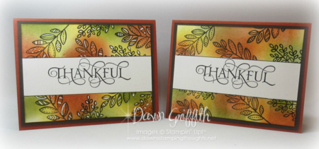 Thankful Cards by Dawn Griffith Masking Technique