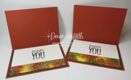 Thankful cards inside Dawn Griffith