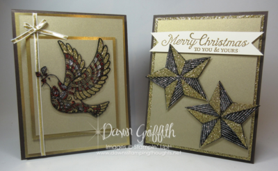 Stain Glass Glitter Window with Dawn Griffith Stampin'Up!