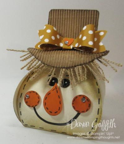 Scarecrow Curvy Keepsake Box Thinlits Dawn Griffith Stampin'Up!