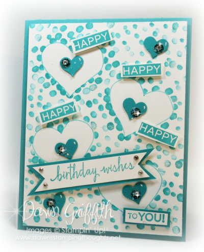 #1 Happy Happy Birthday card for my hubby   Stampin'Up! Dawn Griffith