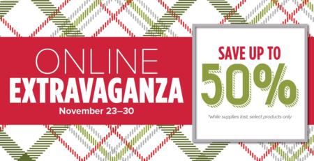 Online Extravanganza save up to 50%
