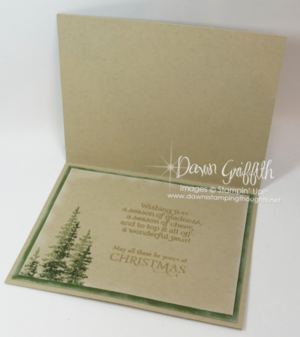 Merry Wishes Christmas card inside Dawn Griffith Stampin'Up!