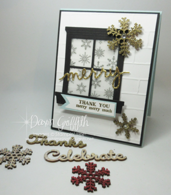 Thank you Merry Merry Much card with Elements Dawn Griffith Stampin'Up!