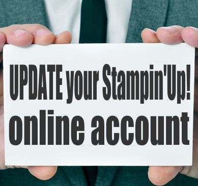 Update your Stampin up online account