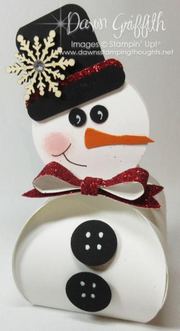Curvy Snowman Box Stampin'Up! Dawn Griffith