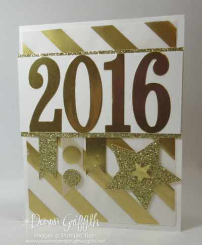 Count down Happy New Year hour 3 Dawn Griffith Stampin up!