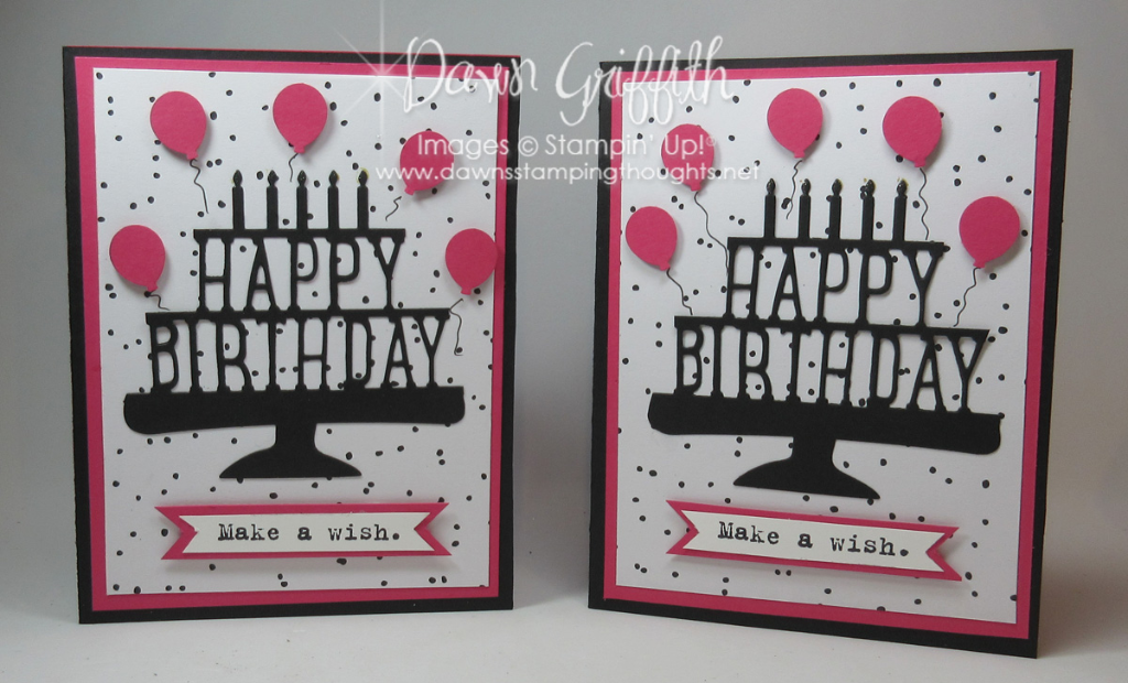 Happy Birthday Party Pop Up Thinlits Card Video Dawns Stamping