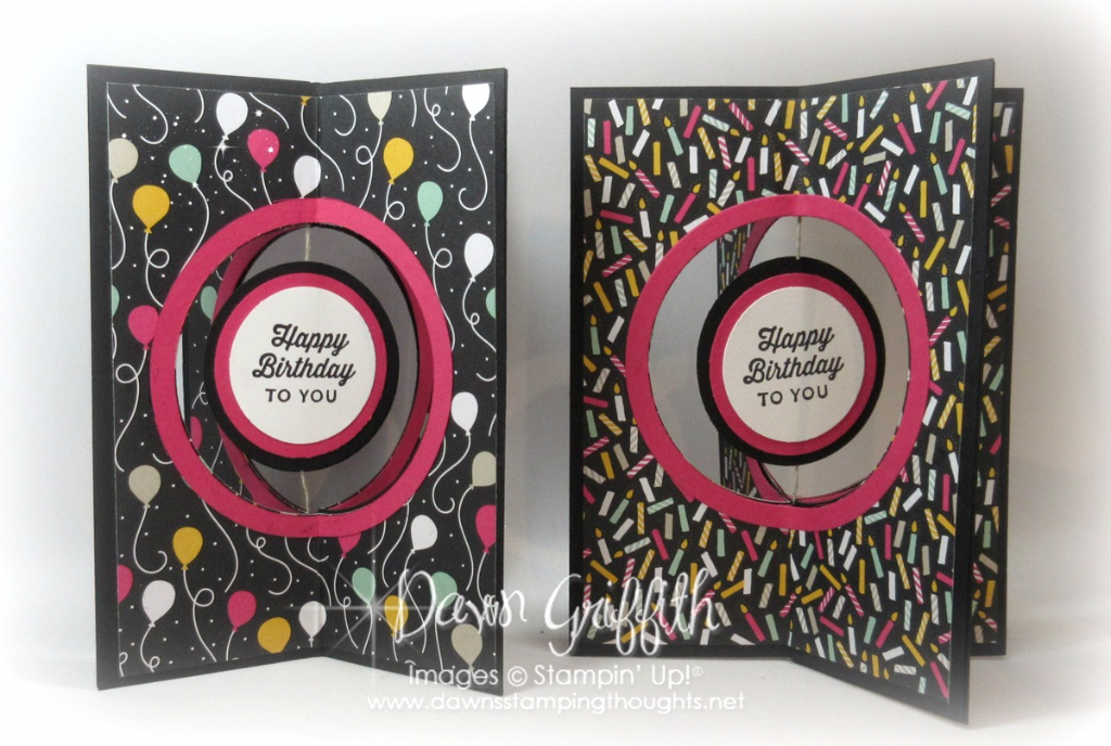 Four Fold Birthday Card Video Dawns Stamping Thoughts