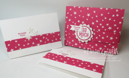 One Sheet Wonder Box with Notecards Melon Mambo Dawn Griffith Stampin'Up!