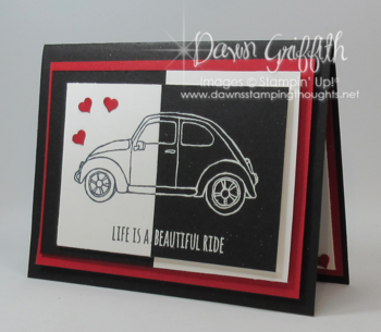 Split Negative Beautiful Ride card #1 Dawn Griffith Stampin'Up! Occasions 2016