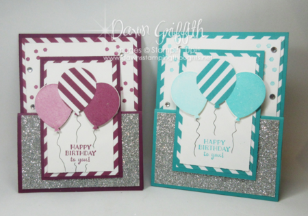 Happy Birthday to you gift card holders front by Dawn Griffith Stampin'Up! Demonstrator