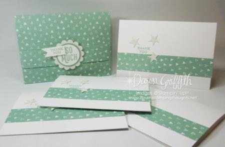 One Sheet Wonder Box with Notecards Mint Macaron