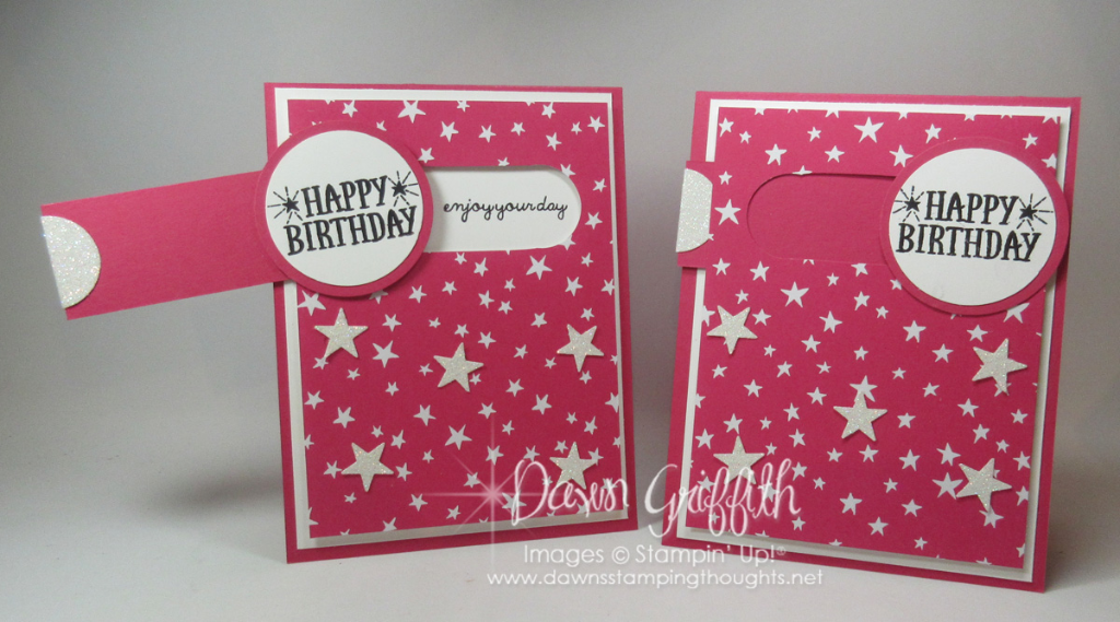 slider birthday card video  dawn's stamping thoughts