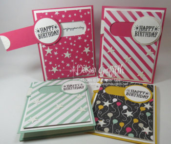 Slider Birthday cards #2  Stampin'Up! Occasions catalog Dawn Griffith