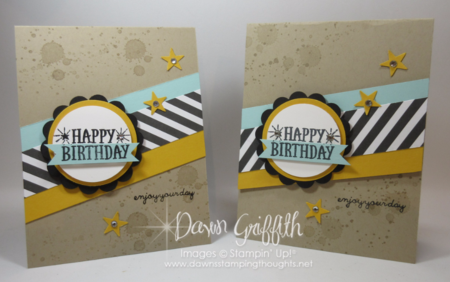 H B-day Enjoy your day cards  Dawn Griffith Stampin'Up! demonstrator.