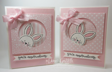 Pink Pirouette Easter card Friends & Flowers stamp set from Stampin'Up! Dawn Griffith Occasions catalog 2016