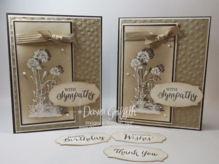 Shadow Stamping with Embossing powder  Serene Silouette stamp set Dawn Griffith Stampin'Up!