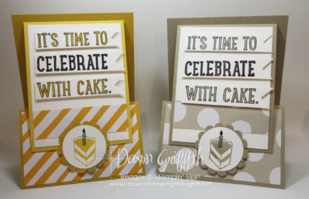 Time to Celebrate Fun Z Fold card Dawn Griffith Stampin'Up! order items from Occasions catalog