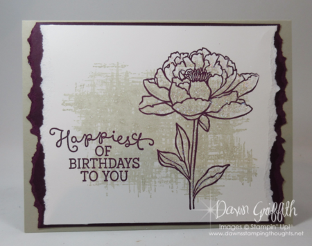 Happiest birthday to you stamp a stack card Dawn Griffith Stampin'Up! demonstrator