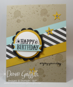 H B-day Enjoy your day Dawn Griffith Stampin'Up! demonstrator