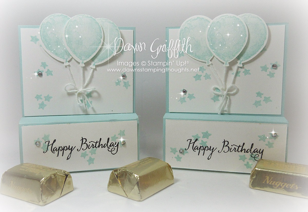 Hershey Chocolate Nugget holder video - Dawn's Stamping Thoughts