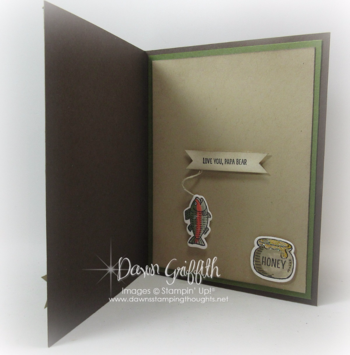 #1 Bear Hugs card inside  Dawn Griffith Stampin'Up! demonstator 2016 Occasions catalog