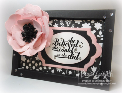 #1 Frame Card with a Pink Pirouette flower using the Bouquet Bigz die from Stampin'Up! video posted on my blog today on how I ma