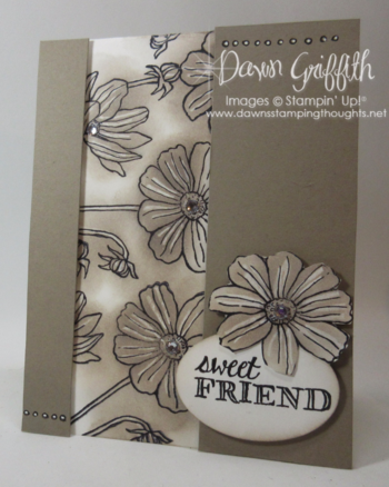 Sweet Friend Helping Me Grow by Dawn Griffith Stampin'Up! Demonstrator video is posted on my blog on this Chalk Marker resist