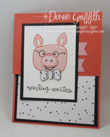Sending Smile pig card Playfuil Pals stamp set from Stampin'Up! video posted on my blog today Dawn Griffith Stampin'Up! demonstrator