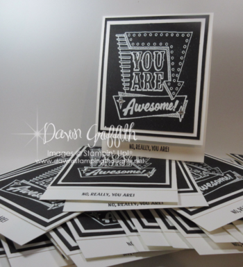Marquee Messages  stamp set  swaps for 2016 Mediterranean Cruise with Stampin'Up! check my blog for all the details on my swap plus  I have a video over there as well .