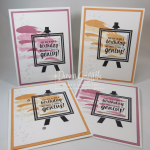 Painter's Palette Birthday cards