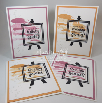 Birthday cards using the new stamp set Painters Palette available June 1, 2016 Dawn Griffith Stampin'Up!