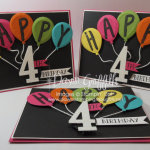 Puffy Balloons Birthday card video