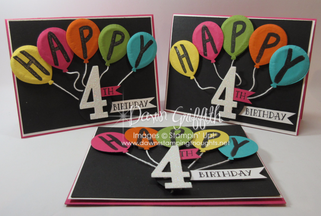 puffy balloons birthday card video  dawn's stamping thoughts, Birthday card