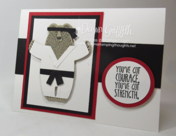 Karate Bear card check out m,y blog for the video on how to create this fun karate bearusing the BearHugs Framelits Dawn Griffith Stampin Demonstrator