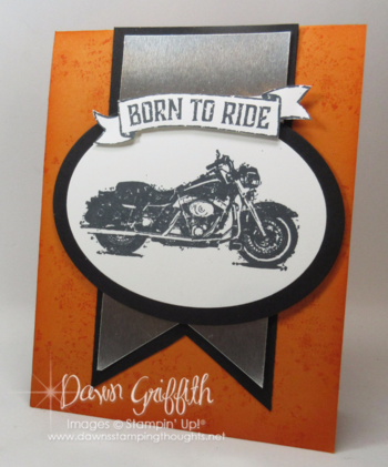 Born to Ride Dawn Griffith One Wild Ride stamp set Million Dollar achiever stamp set Stampin'Up! front