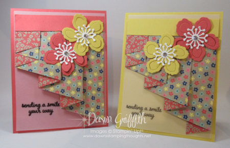 Curtain Fold Technique video posted on my blog today with Dawn Griffith Stampin up Demonstrator