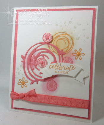 Celebrate Your Day card Stampin Up Swirly Bird stamp set Dawn Griffith Check out my blog for todays video