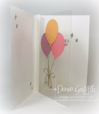 #1 It's Your Birthday card inside with window sheet insert check out the video posted on my blog Dawn Griffith Stampin Up Demons