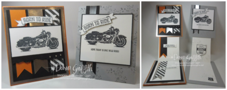 Modified Z Fold card check out todays video Dawn Griffith Stampin Up One Wild Ride