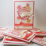 Swirly Bird Note cards