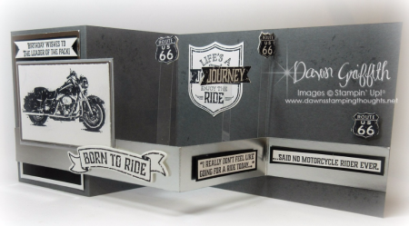 #1 One Wild Ride Pop up Z Fold Dawn Griffith Stampin up Demonstrator check out my blog for todays video