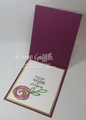 With Sympathy Swirly Scribbles inside Dawn Griffith Stampin'Up! Demonstrator