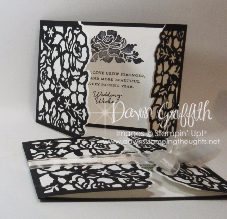 Floral Phrases wedding card fro Whitney and Mike Dawn Griffith Stampin'Up demonstrator video posted on my blog today .