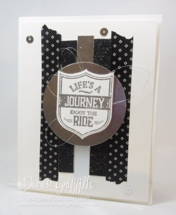 Lifes a journey enjoy the ride card from Glenn donationing to OIS for Hoka Hey 2016 Dawn Griffith Stampin Up